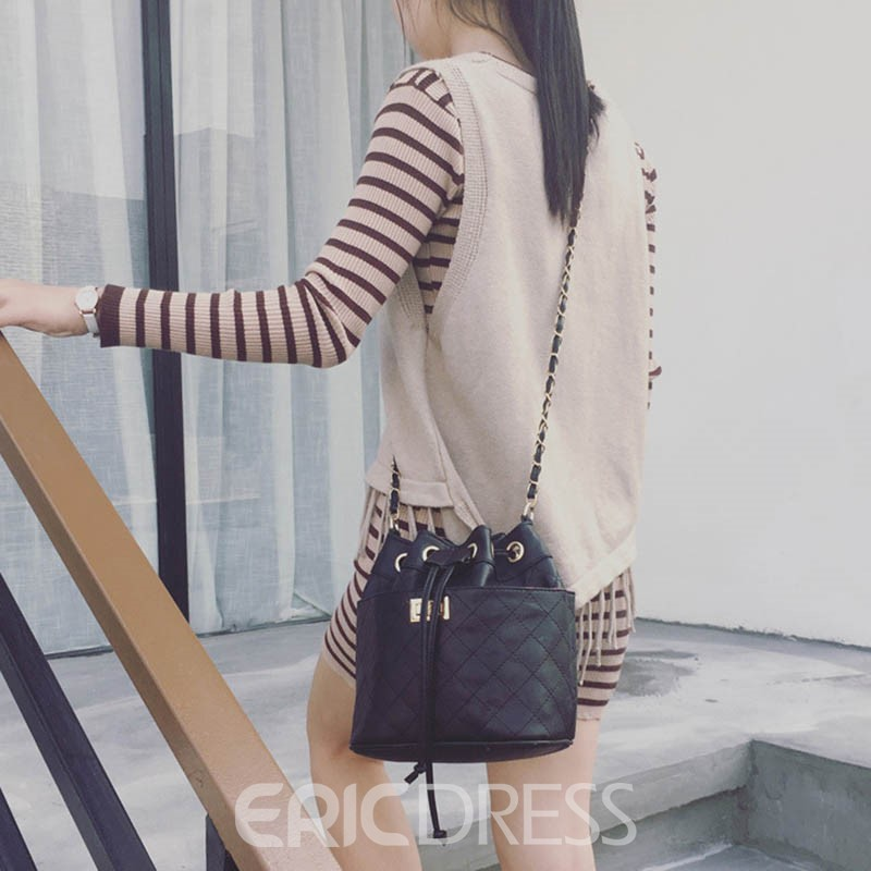 Ericdress Classic Ling Plaid Belt Crossbody Bag