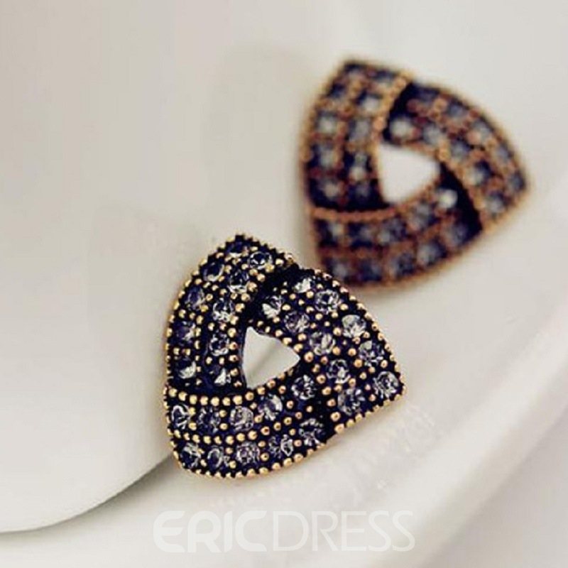 Ericdress Vintage Irregular Triangle Stud Earrings (Price For A Pair)