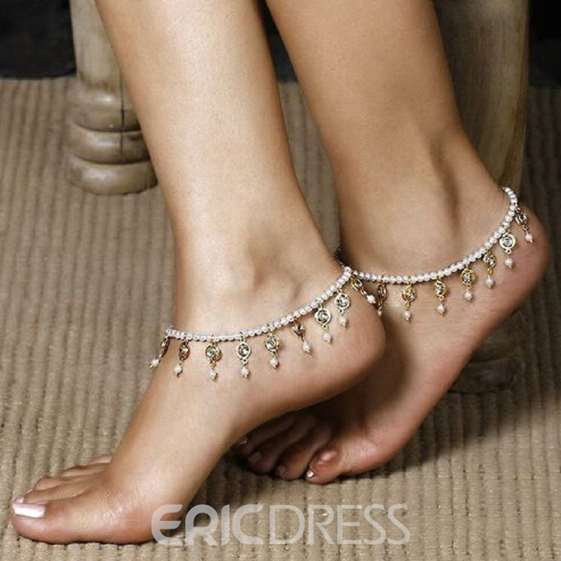 Concise Little Bells Decorated Anklet