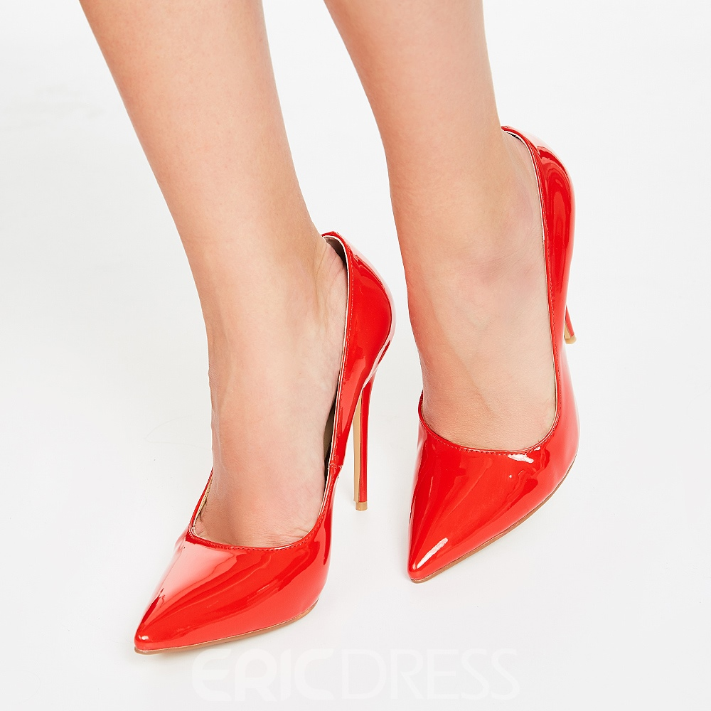 Ericdress Sexy Red Point Toe Ultra High Pumps
