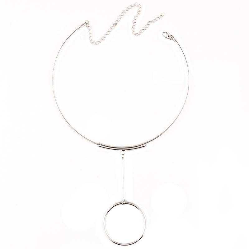 Ericdress Metal E-Plating Circle Tassels Collar Necklace