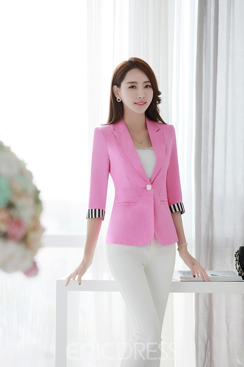 Ericdress Color Block Patchwork Blazer
