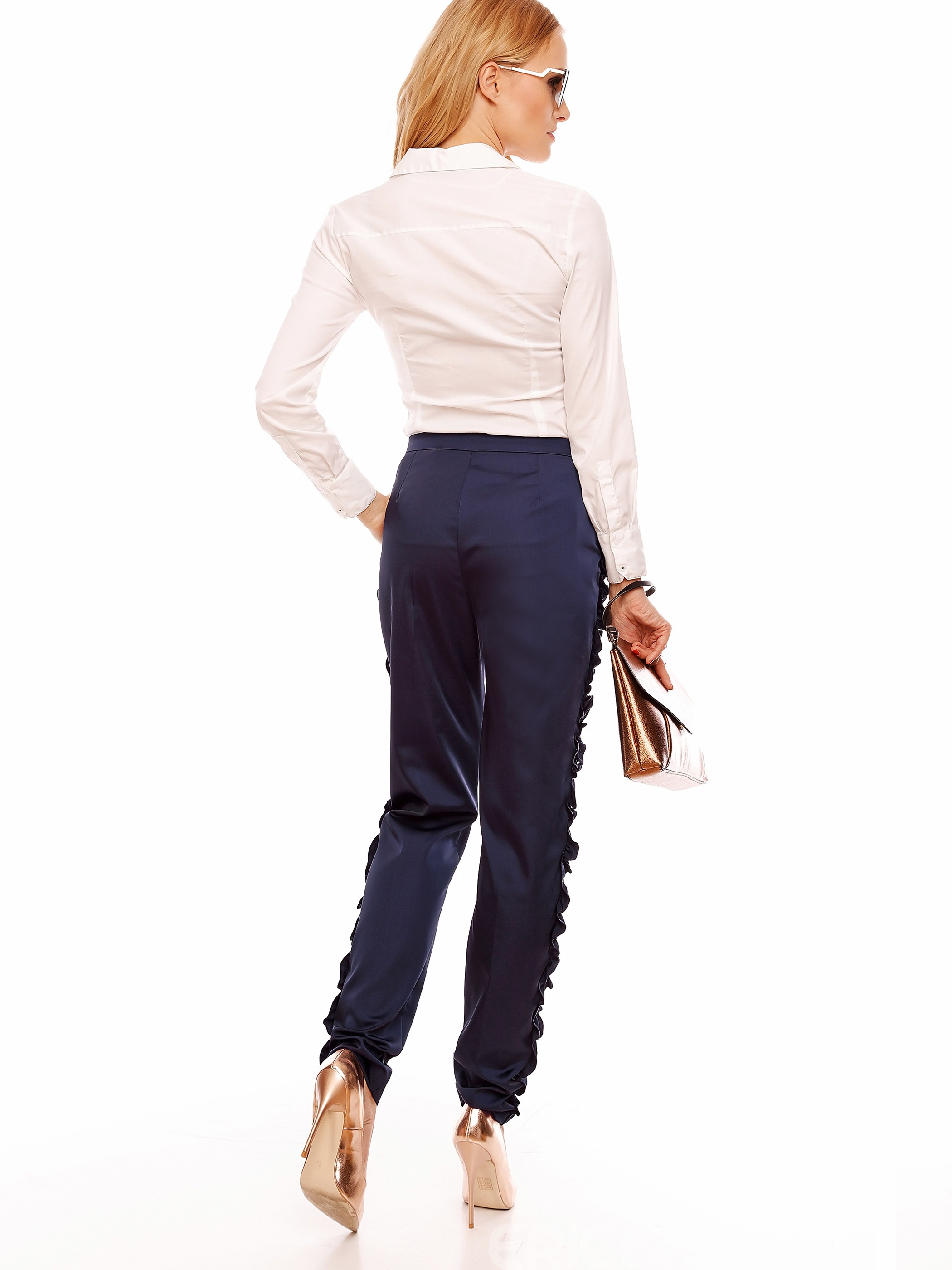 Ericdress Pleated Solid Color Pants