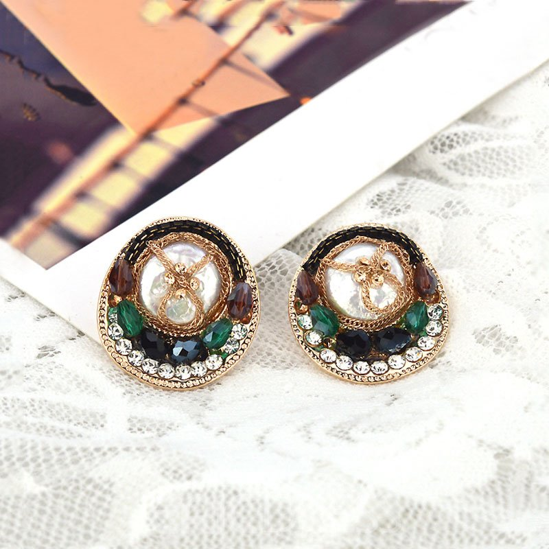 Ericdress Rhinestone Mosaic Chain Decorated Earrings