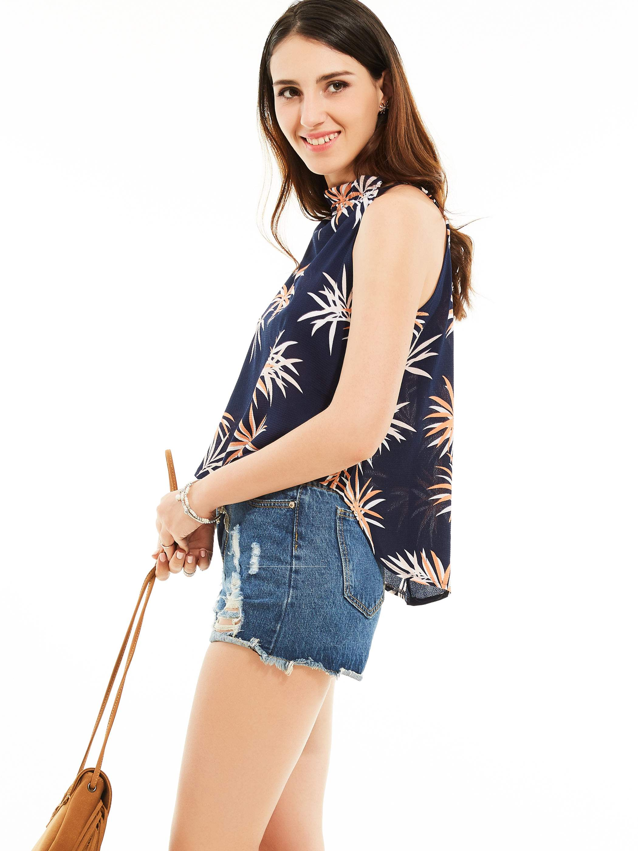 Ericdress Casual Loose Printed Vest