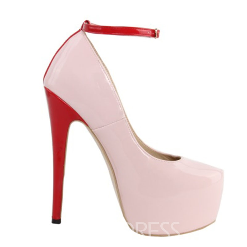Perfect Contrast Color Stiletto Heels Prom Shoes