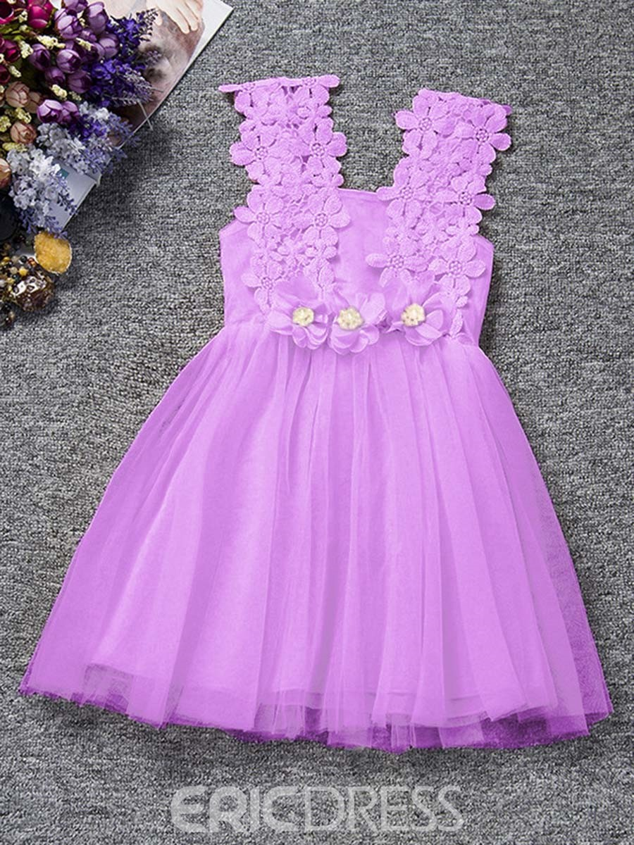 Ericdress Lace Mesh Sleeveless Ankle-Length Ball Gown Dress