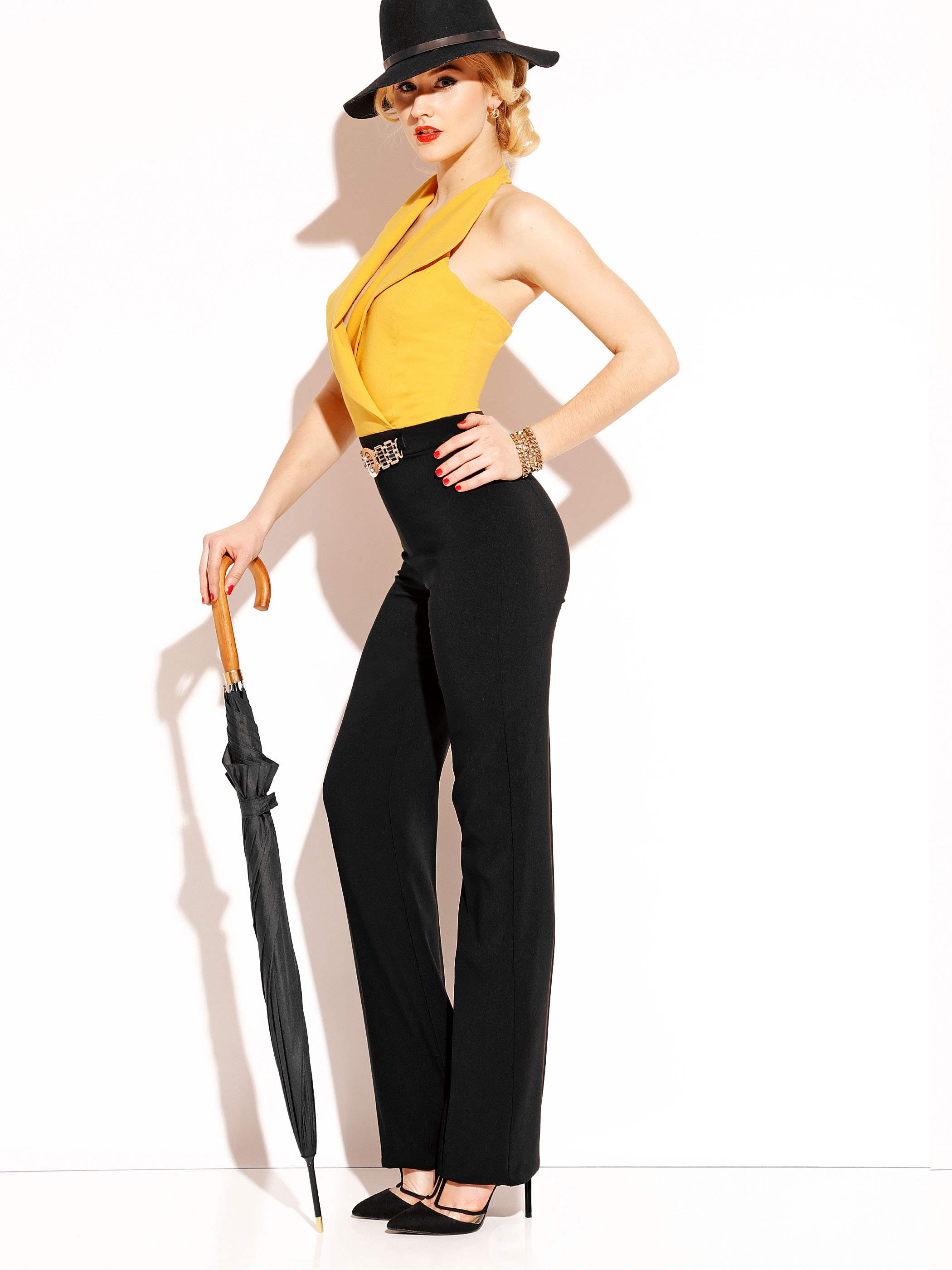 Ericdress Wide Leg High-Waist Women's Jumpsuit