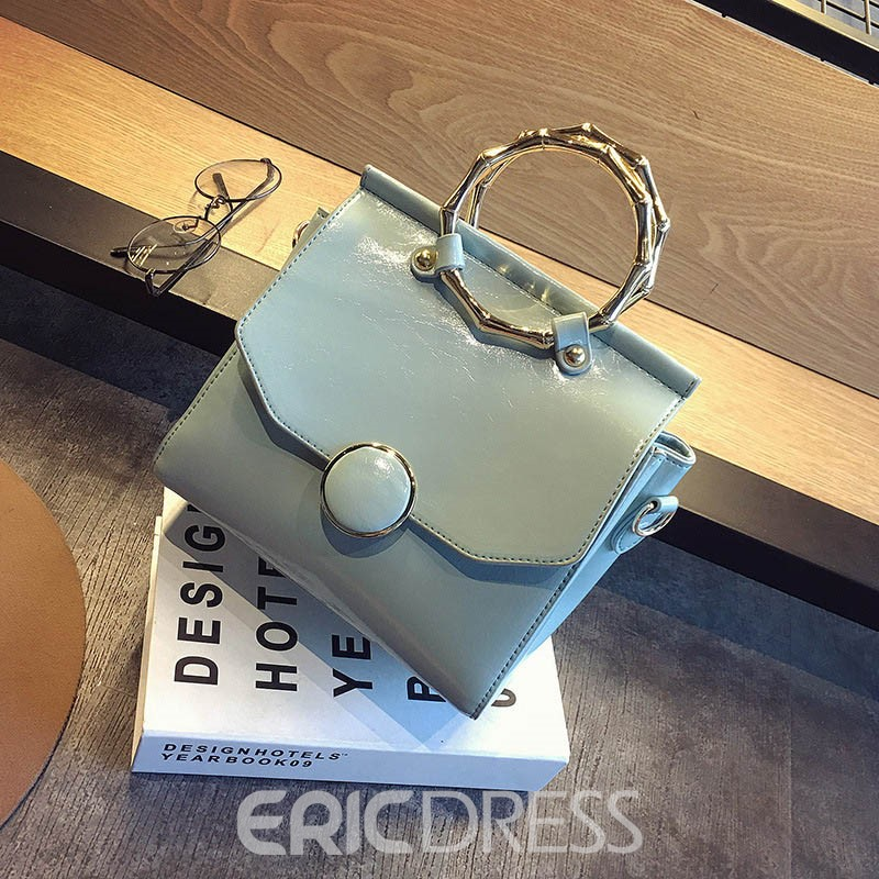 Ericdress Personality Crack Outermost Oil Leather Handbag