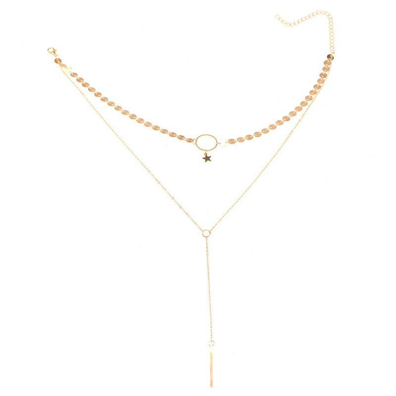 Ericdress Manual Sequins Beading Star Tassels Necklace