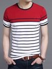 Ericdress Stripe Color Block Casual Men's T-Shirt