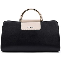 Ericdress Elegant Metal Handle Soft PU Handbag