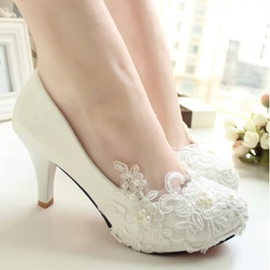 Ericdress Slip-On Stiletto Heel Round Toe Wedding Shoes