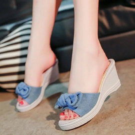 Ericdress Concise Denim Mules Shoes