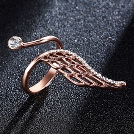 Ericdress Golden Wing Diamante Alloy Opening Ring
