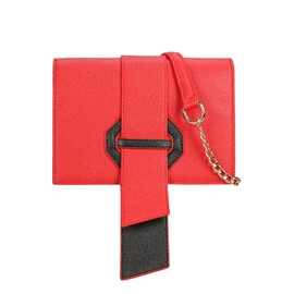 Ericdress Contrast Color Magnetic Buckle Chain Crosssbody Bag