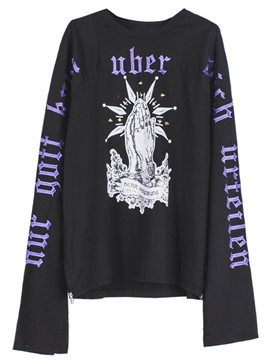 Ericdress Embroidery Extra Long Sleeve Oversized Hoodie