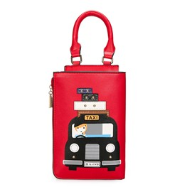 Ericdress Personality Cartoon Prints Taxi Pattern Handbag
