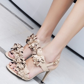 Ericdress Amazing Flower Decorated Stiletto Sandals