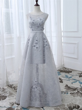 Ericdress A-Line Appliquess Lace Prom Dress With Beadings
