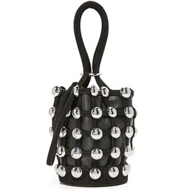 Ericdress Mini Belt Rivets Adornment Bucket Handbag