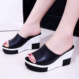 Ericdress Patchwork Platform Mules Shoes