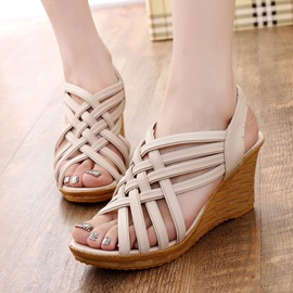 Ericdress Roman Cross Straps Wedge Sandals