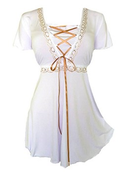Ericdress Victorian Gothic Boho Plus Size Angel Corset T-Shirt