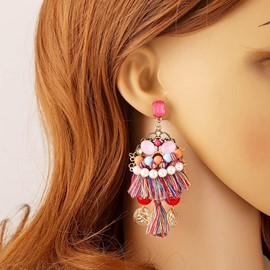 Ericdress Vintage National Style Bead Earring