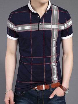 Ericdress Stripe Short Sleeve Slim Men's T-Shirt