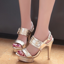 Ericdress Charming Rhinestone Platform Stiletto Sandals