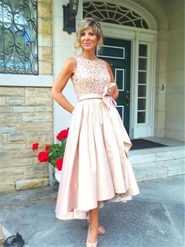 Ericdress A Line Beaded High Low Mother Of The Bride Dress