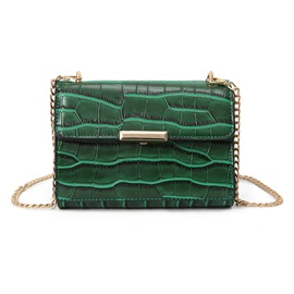 Ericdress Solid Color Crocodile Grain PU Crossbody Bag