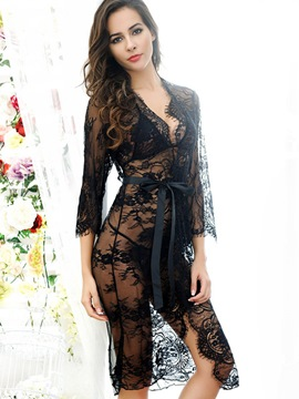 ericdress Ebene see-through Dreiviertel-Ärmel Babydoll