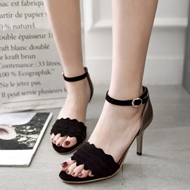 Ericdress Line-Style Ankle Strap Open Toe Stiletto Sandals