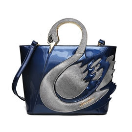 Ericdress Elegant Swan Design Patent Leather Handbag