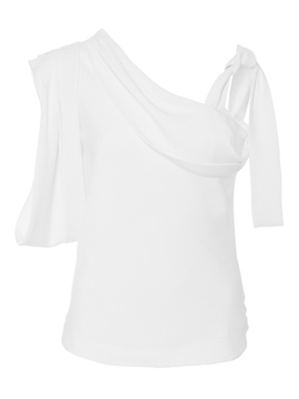 Ericdress White Irregular Stylish Blouse