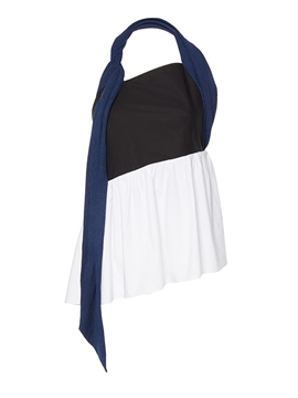 Ericdress Color Block Asymmetric Backless Vest