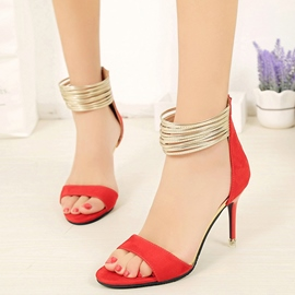 Ericdress Patchwork Ankle Strap Stiletto Sandals