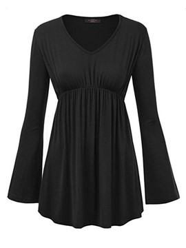 Ericdress V Neck Empire Waist Tunic T-Shirt