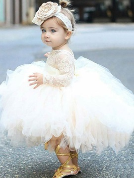 Ericdress Adorable Lace Tulle Ball Gown Flower Girl Dress