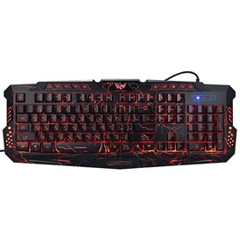 Ericdress M200 Cool Crack Keyboard with 3 Colors Backlight Usb Wire-control for Gaming