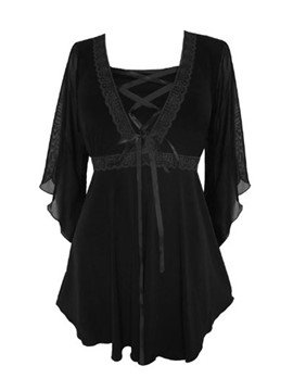Ericdress Victorian Gothic Boho Plus Size Bewitched Corset T-Shirt