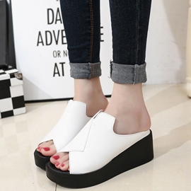 Ericdress PU Platform Antiskid Mules Shoes