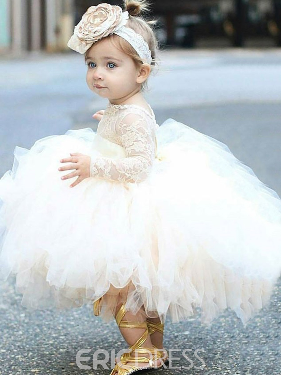Ericdress Adorable Lace Tulle Ball Gown Flower Girl Dress 12809808 ...