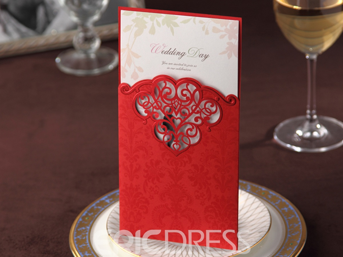 Personalized Delicate Pearl Paper Invitation Cards (20 Pieces One Set)