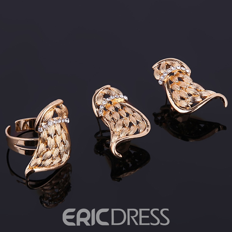 Ericdress Exaggerated Golden Unique Design Hollow Jewelry Set