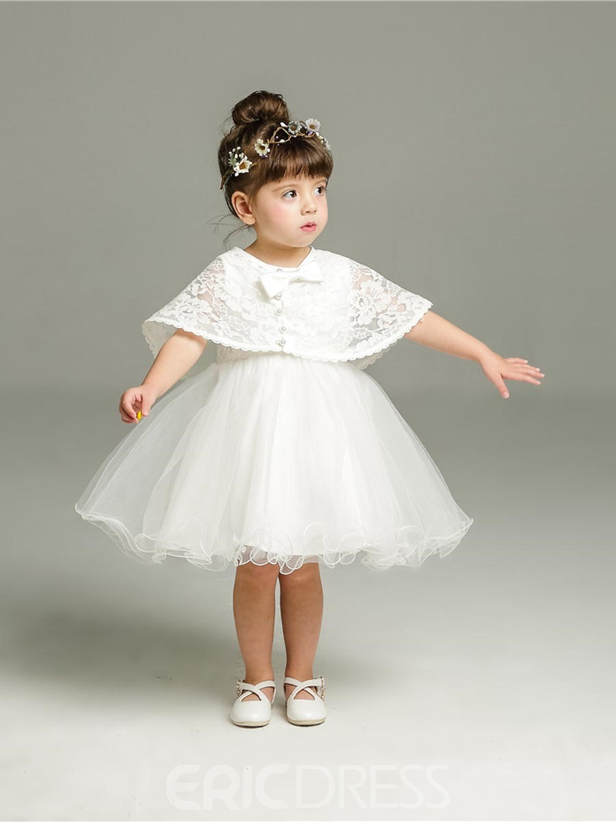 Ericdress Mesh Tutu Dress & Lace Tippet Baby Girls 2-Pcs Suit