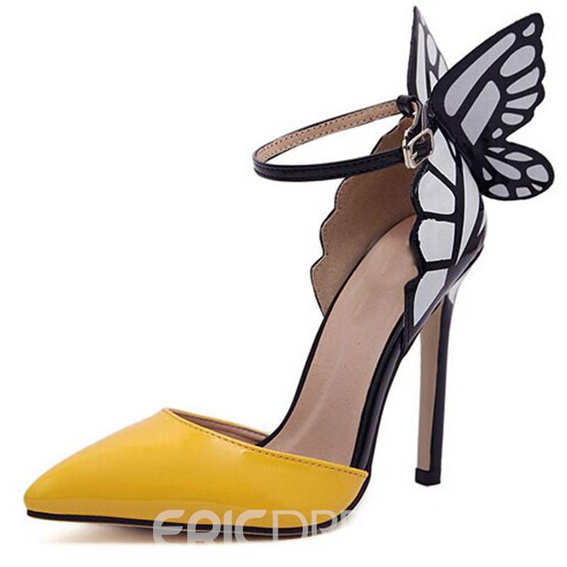 Ericdress Point Toe Butterfly Ankle Strap Sandals