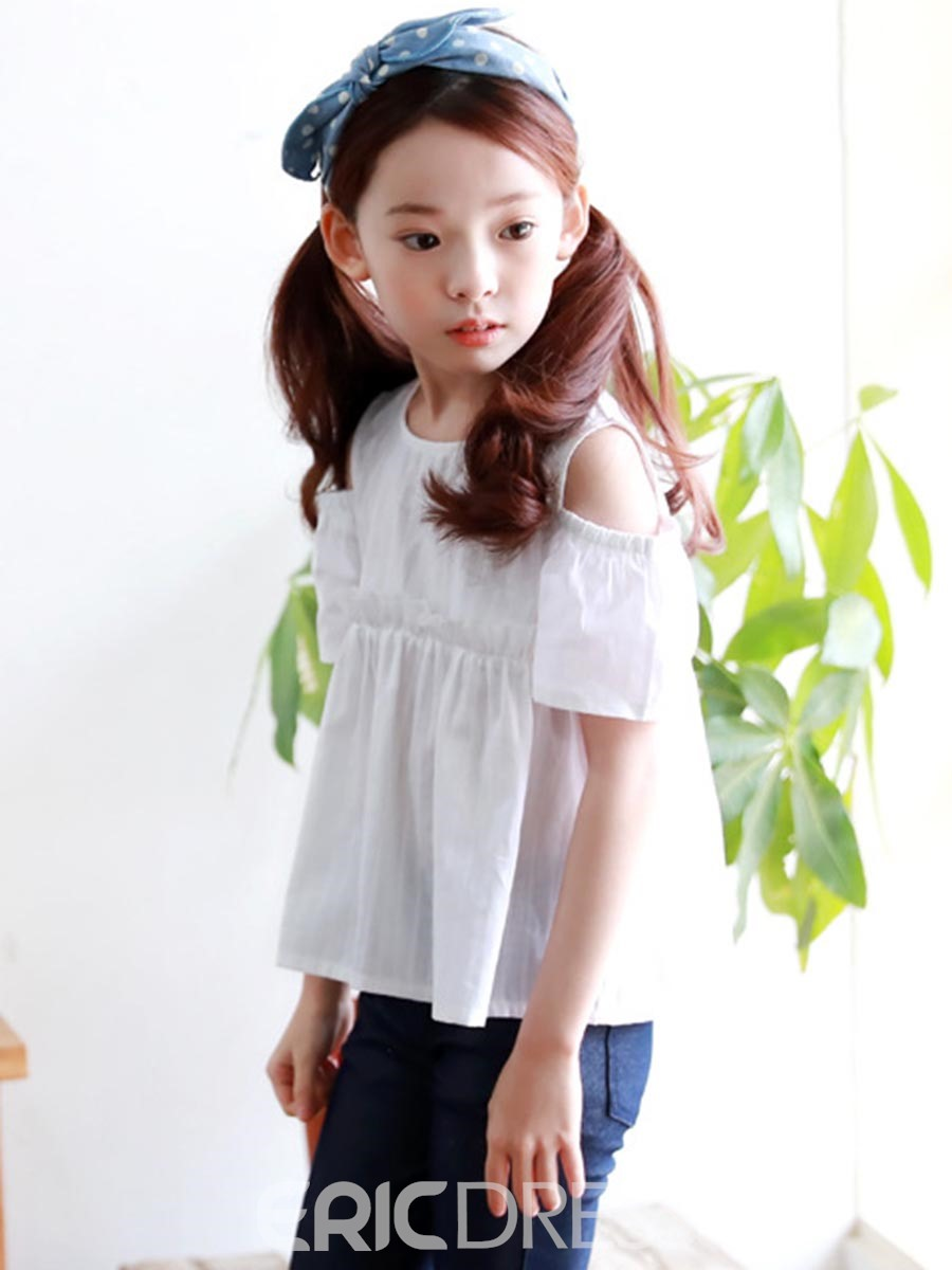 Ericdress Plain Short Sleeve Girls T-Shirt